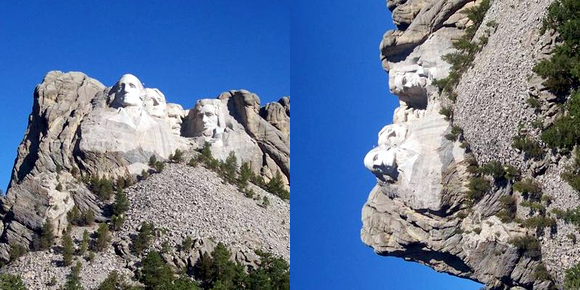 Mt Rushmore Sideways