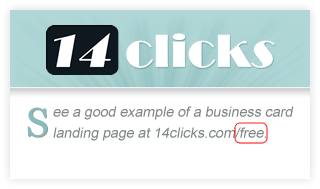 14 Clicks Business Card Free