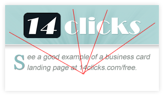 14 Clicks Business Card Lines